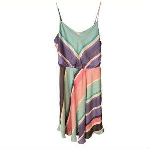 Lauren Conrad Summer Dress Multicolored Stripes